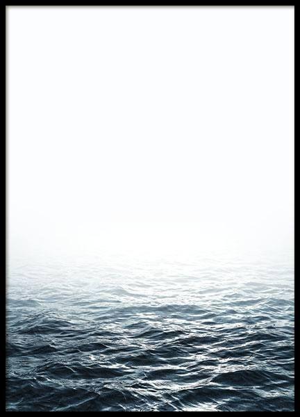 Poster met een foto van de zee