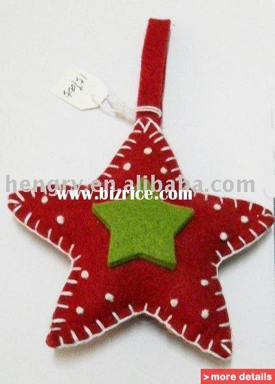 yıldız kırmızı yeşil keçe yılbaşı