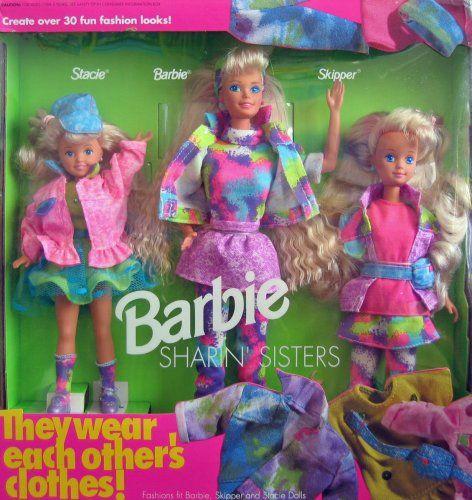 Image result for Mattel Barbie Sharin' Sisters 1991