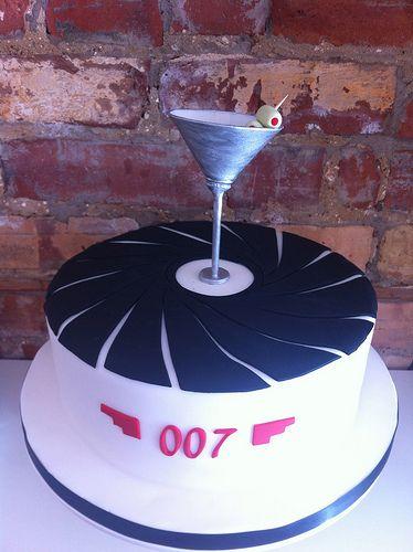 James Bond fondant cake