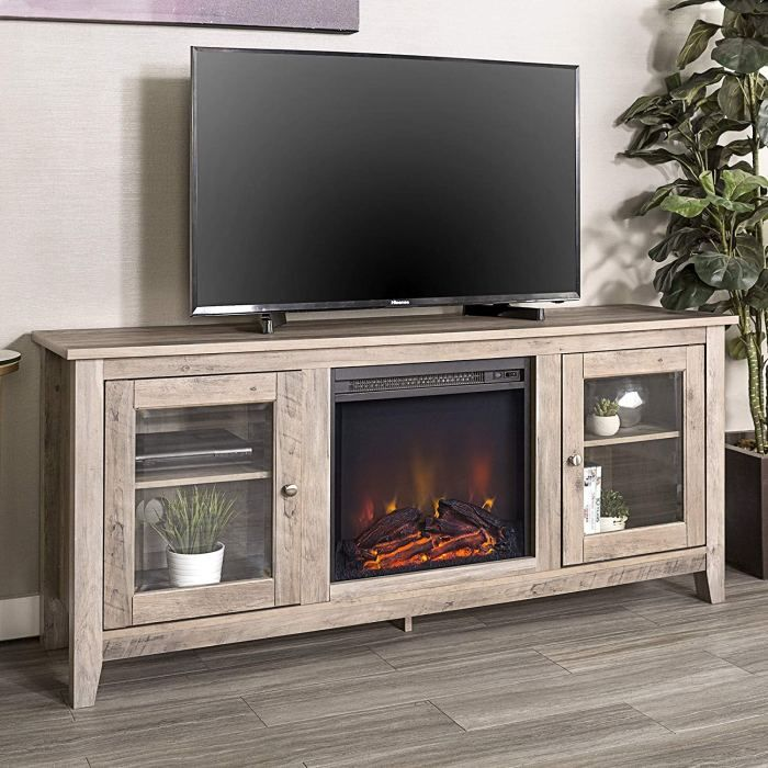 10 Best Selling Wooden Tv Stands With Storage On Amazon With Images Fireplace Tv Stand
