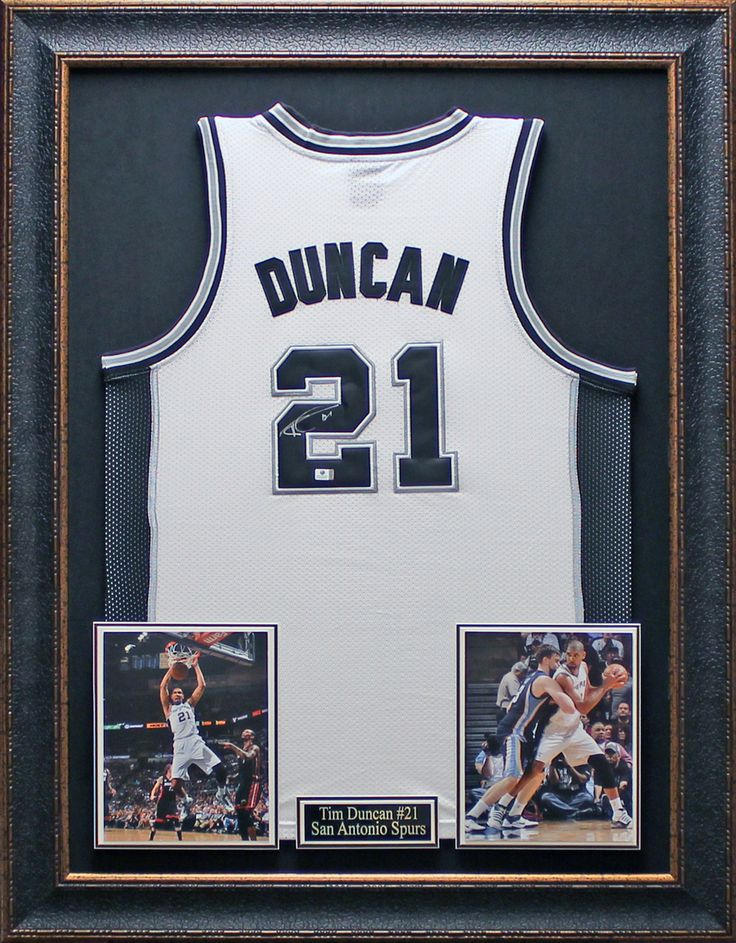 tim duncan authentically signed san antonio spurs jersey