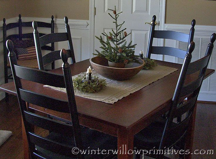 winter willow primitives under the willow merry christmas - Primitive Kitchen Tables