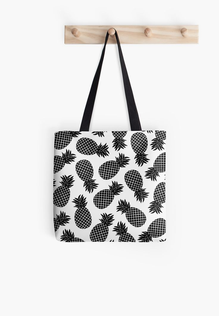 Pineapple minimal pattern. Black and white summer botanical print. • Also buy this artwork on bags, apparel, phone cases, and more.Pineapple black and white summer pattern. @redbubble #redbubble #pattern #summer #print #pattern #pineapple #white #black&white #redbubble #printmaker #print #fashion #trends #tote #bag