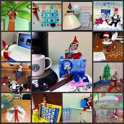 Elf on a Shelf classroom ideas and slideshow from Denise at Sunny
