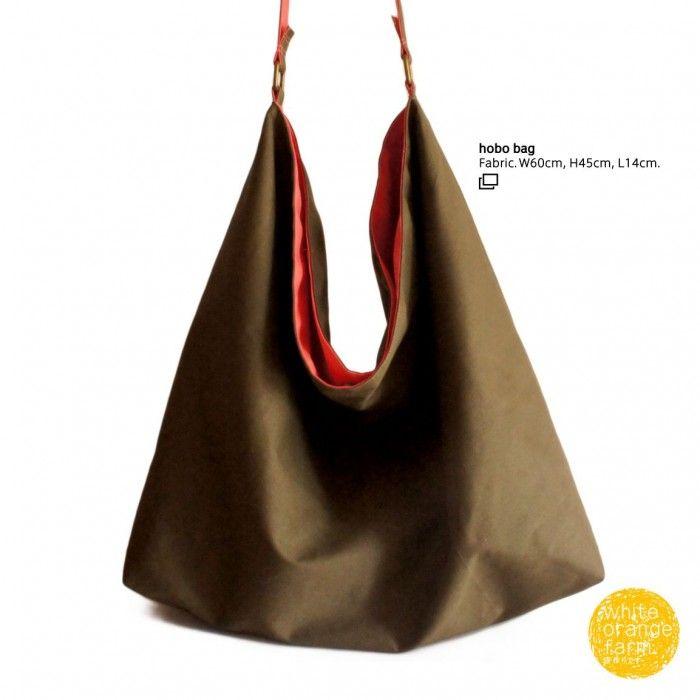 Hobo Bag #whiteorangefarm #mosseash #handmade #handmadebag #cotton #canvas