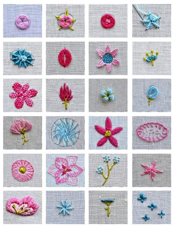 embroidery pattern set flower embroidery pattern ebook hand   Etsy
