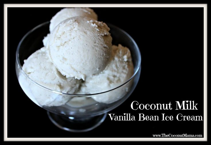 Coconut Milk Vanilla Bean Ice Cream - Coconut Vanilla. Just made a batch of this and it's major yummo! (make sure to refrigerate the mixture over night before putting it into the ice cream maker)