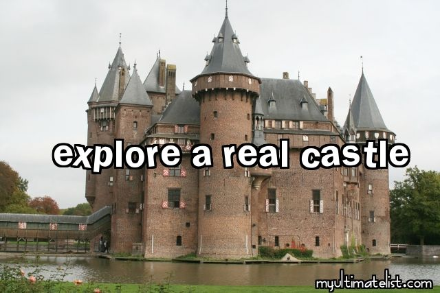 YES!! I have been wanting to do this for a long time. Still haven't done it though. Maybe I'll visit a french castle (or a chateau)