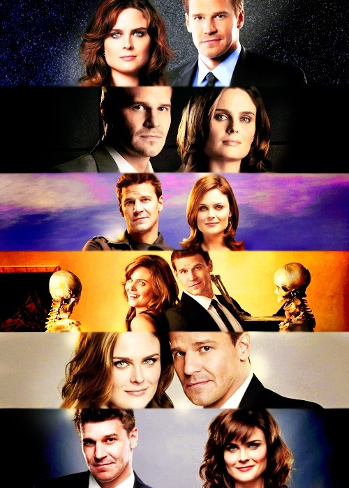 Seeley Booth and Temperance Brennan on Bones.