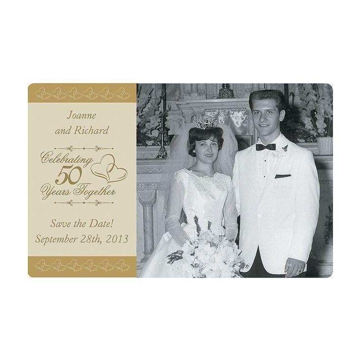 Customized 50th Wedding Anniversary Photo Magnets