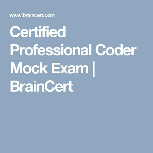 Certified Professional Coder Mock Exam | BrainCert