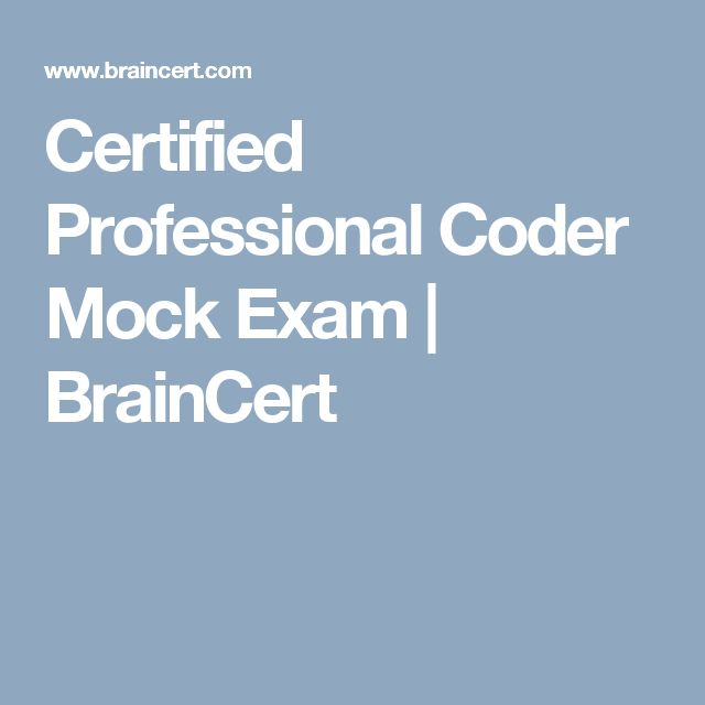 Certified Professional Coder Mock Exam | BrainCert