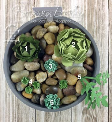 addINKtive designs: Paper Succulents made from Stampin' Up! Punches and Dies