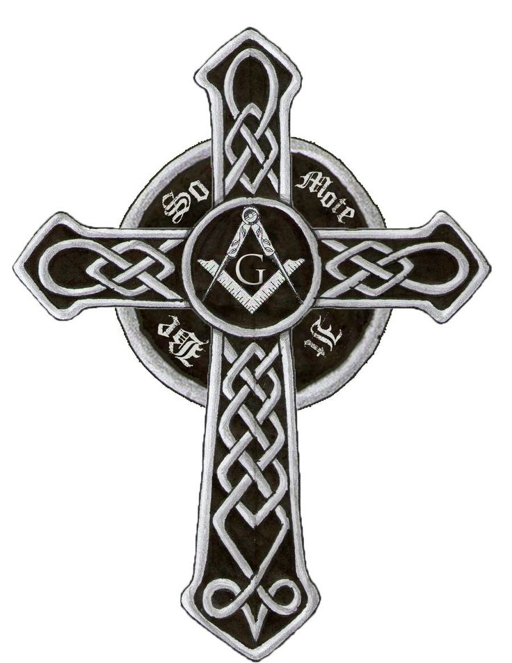Masonic cross tattoo I designed for my husband