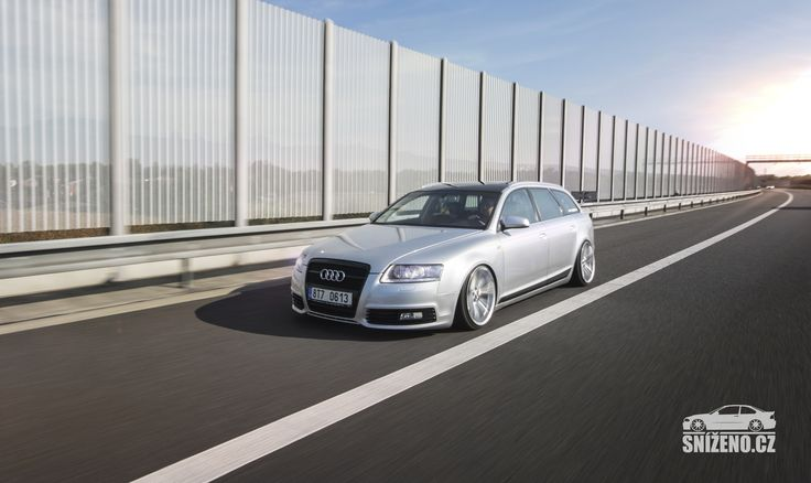 Čtyř-kruhový nafoukanec. To je Audi A6 Avant na vzduchu   Sníženo.cz - První český web o snížených vozech