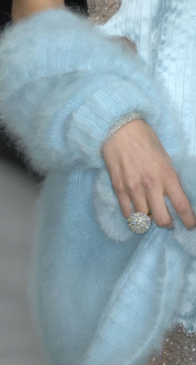 Blumarine - I NEED that cashmere sweater..and that diamond ring.