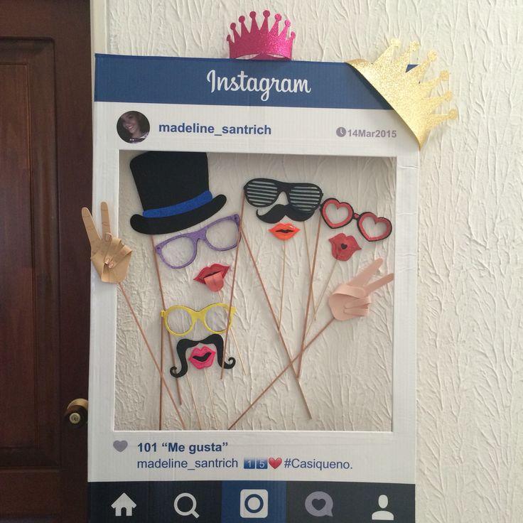 Marco de Instagram para Fotos / Photo Booth/ Props / fiesta de 15 años por #ViCani_Design