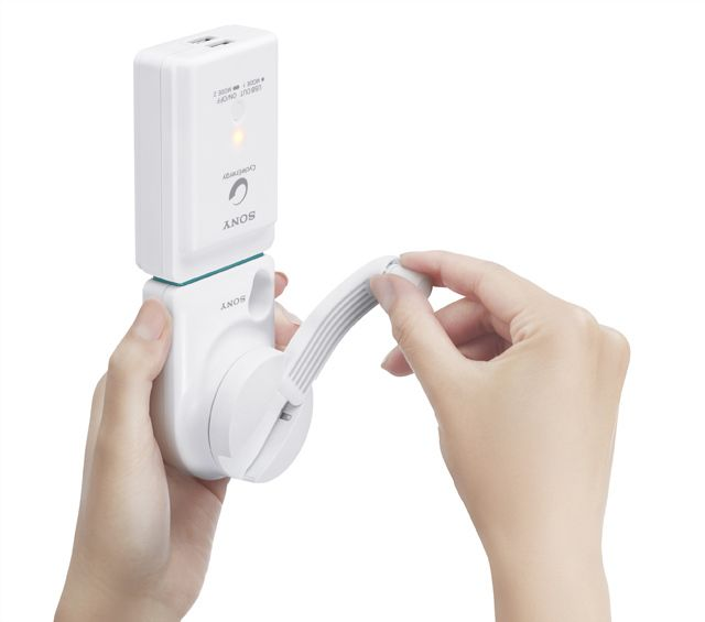 Sony hand-cranked USB charger replenishes energy without an outlet.