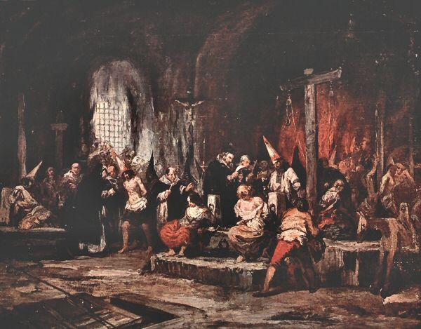 Scènes de l'Inquisition [espagnole] par Eugenio Lucas (1824-1870), Bruxelles © DR.