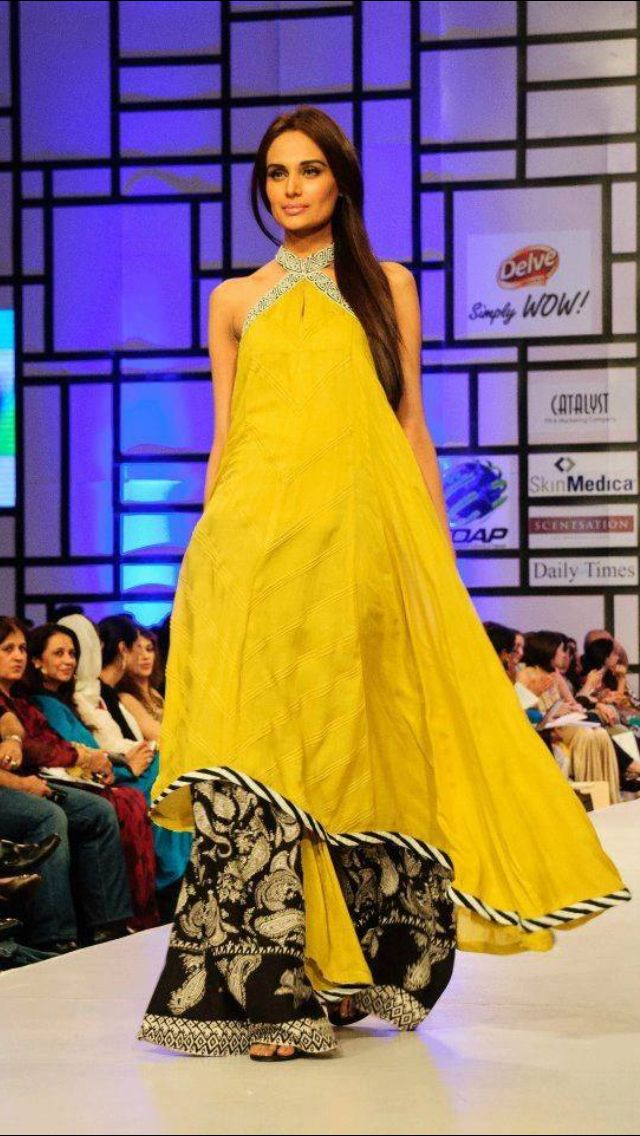 Yellow long #kurti