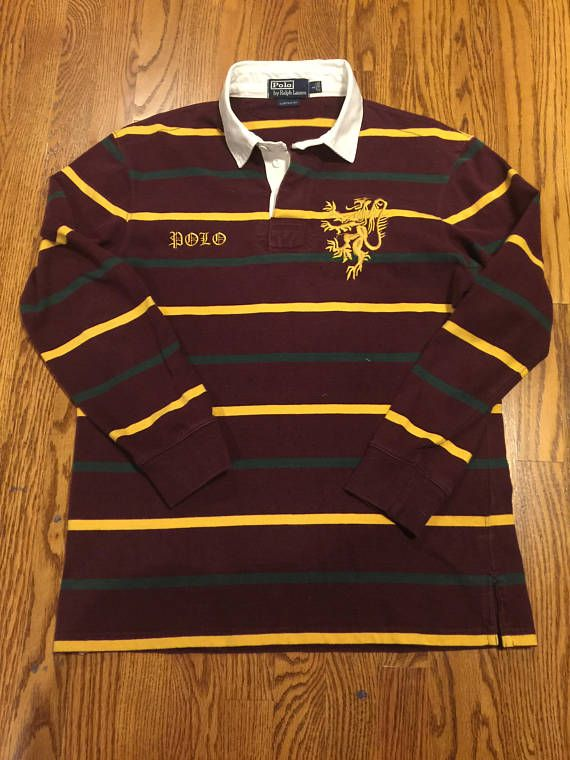 Vintage polo ralph lauren long sleeve lion embroidered