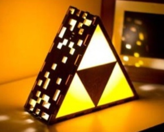 Geeky Gamer Lamps   These Geeky Gamer Lamps Offered By The Back Pack Shoppe  Are The Ultimate Display Of Gamer Home Decor. From The Zelda Triforce Of  Power ...