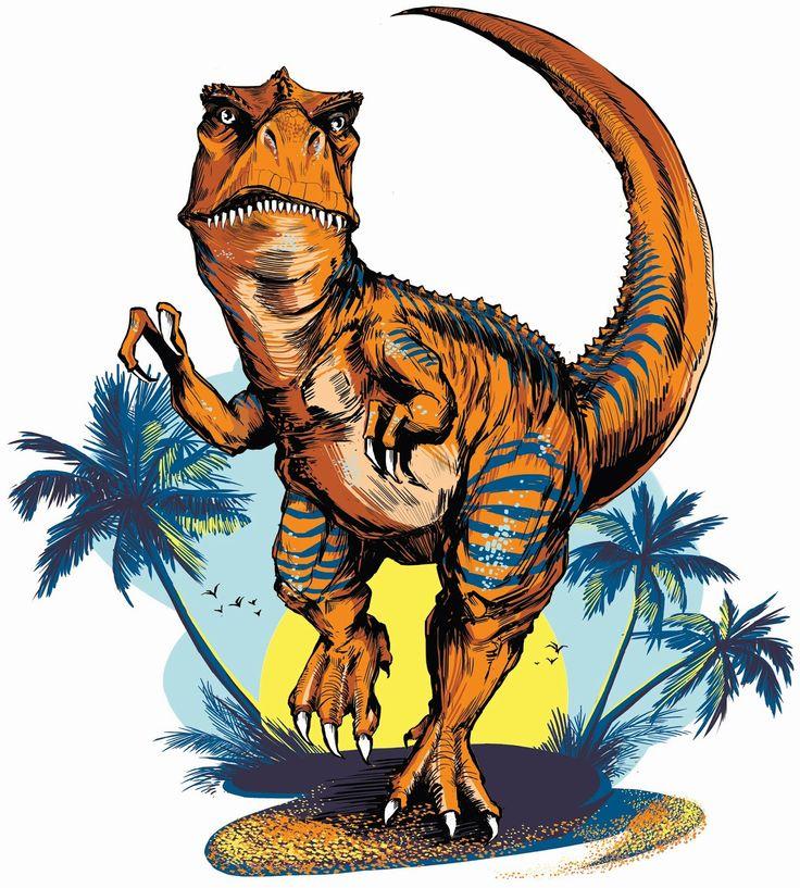 Картинка динозавр нарисовать