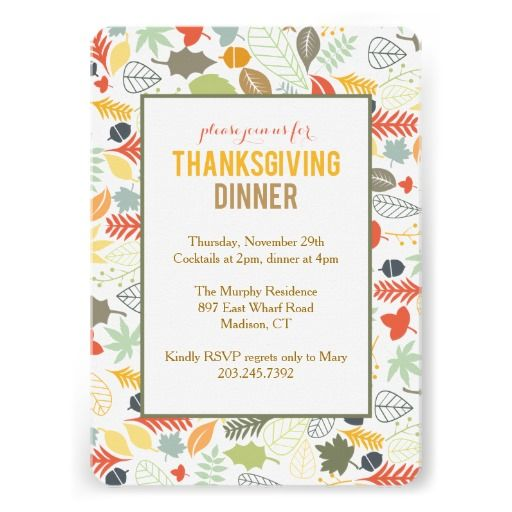 330 Best Thanksgiving Invitations Images On Pinterest