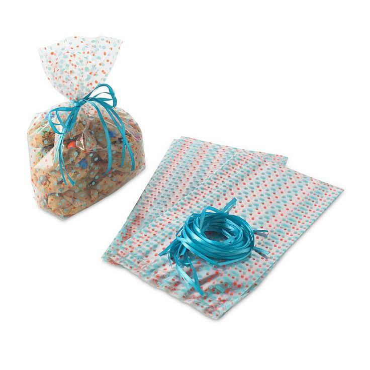 Nordic Ware Cellophane Gift Bags with Ribbons - Set of 24