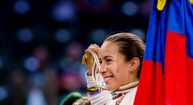Mariana Pajón, campeona mundial de la contrarreloj en el Mundial de BMX 2015.