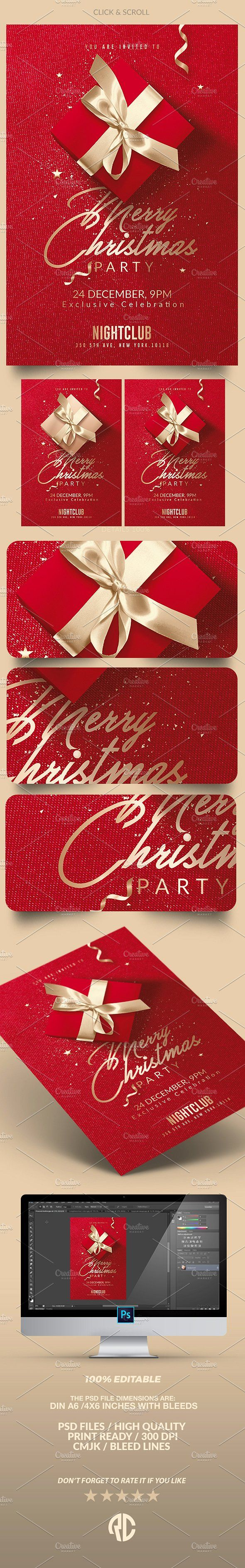 Red Christmas - Invitation | Flyer - Templates - 5