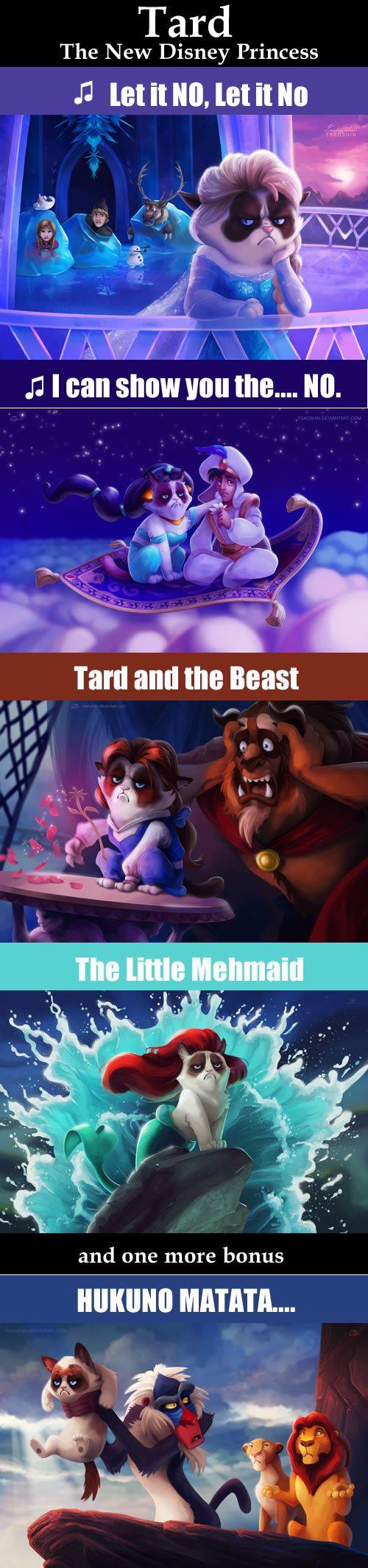 Grumpy Cat/ Tartar Sauce, Disney's next Princess. Hahahaha I just died! @Sarah Chintomby Chintomby Chintomby Davis