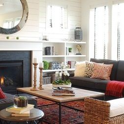 Houzz Eclectic Living RoomFarmhouse