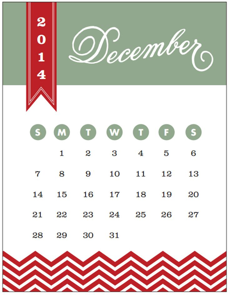 12 December 2014 Calendar Elegance and Enchantment