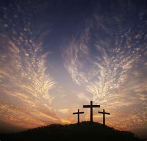 Beautiful Picture Of Three Crosses Clouds That Look Like Feathers