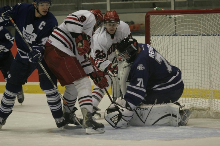 It's Throw Back Thursday! Guess which current Toronto Maple Leaf was in net vs. York in an exhibition game back in 2006?