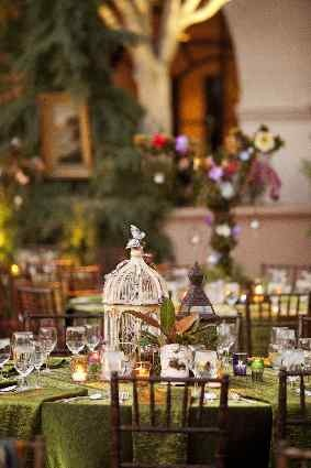 Birdcages can be used to enhance your enchanted theme as you can intertwine twigs butterflies and flowers in the centre, use little fairy lights to make it magical