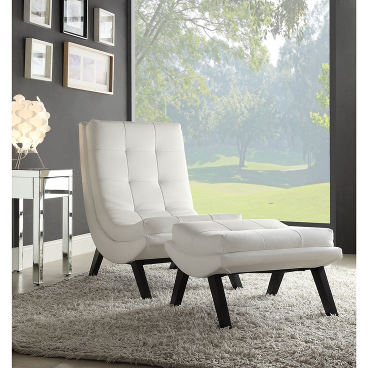 Office Star Products Ave Six Tustin Lounge Chair and Ottoman Set