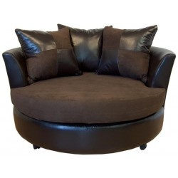 Chelsea Home Furniture   Triad Alex Bulldozer Java Swivel Chair   600 BJ |  Great