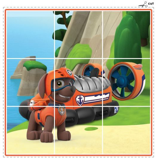 Puppy puzzles from the PAW Patrol! Print, cut, and put back together again!