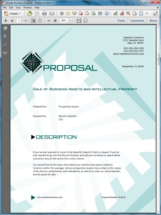 sale proposal examples