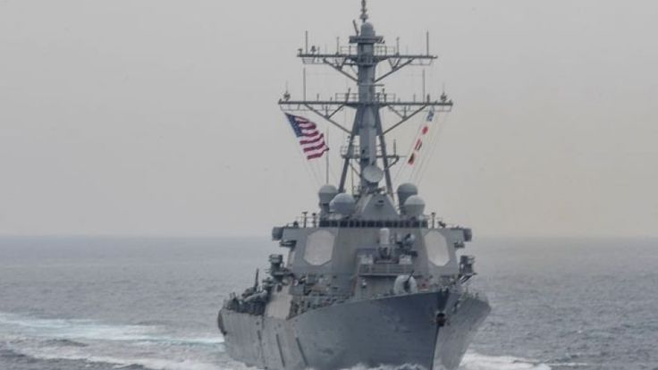 US Navy warship collides with cargo ship off coast of Japan