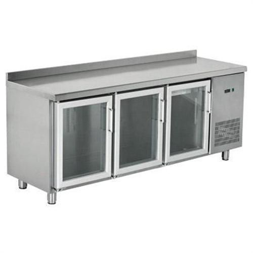 Table Type Refrigerator With Glass Doors