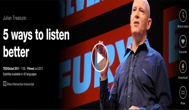 5 Great TED Talks on the Importance of Listening.