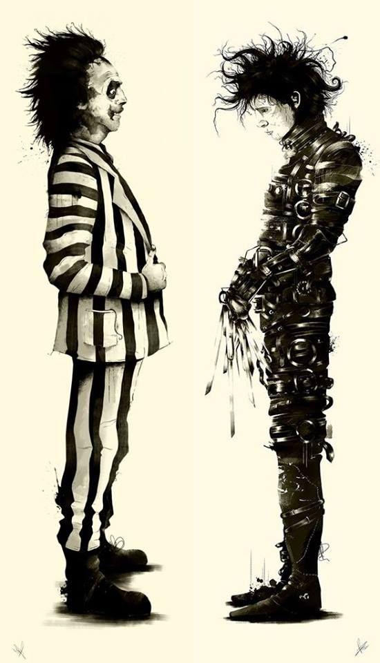 Beetlejuice VS. Edward....  <3