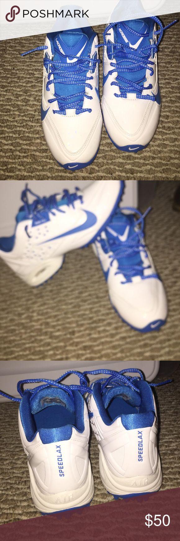 Nike turf shoes Never worn white and blue nike lacrosse turf shoes Nike Shoes Athletic Shoes