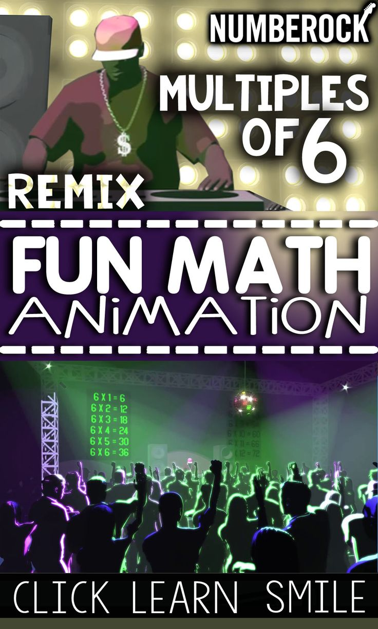 38 best 3rd grade math songs images on pinterest math songs ad free multiplication animation that teaches the 6 times tables a multiples of 6 gamestrikefo Choice Image