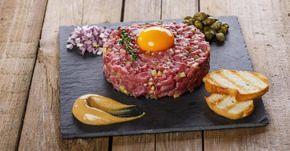 Recette de Steak tartare de boeuf en version légère pour repas entre amis. Facile et rapide à réaliser, goûteuse et diététique.