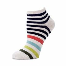 Sadie ankle socks in bright stripes by zkano. Made from organic cotton